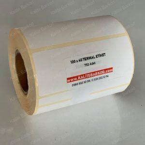 100x40 termal barkod etiket