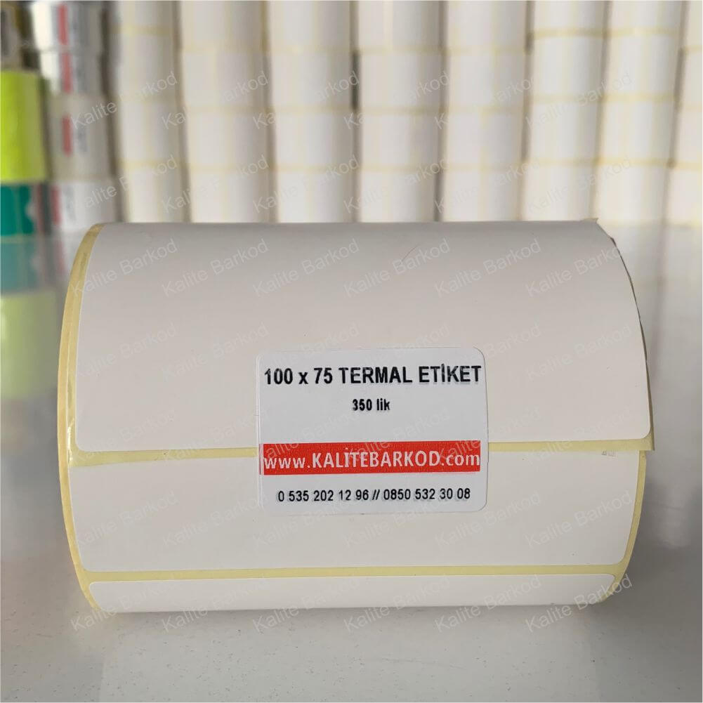 termal barkod etiket 100x75  Rulo Etiket 100 x 75 termal barkod etiket