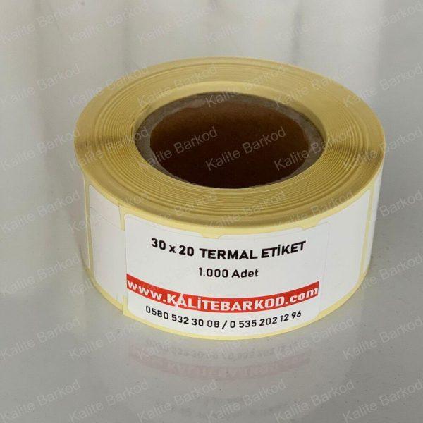 30 x 20 Termal Etiket 30 X 20 termal barkod etiket 600x600