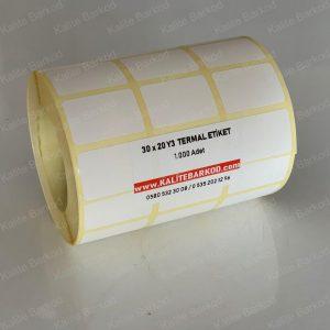 30x20 yanyana 3 lü termal etiket