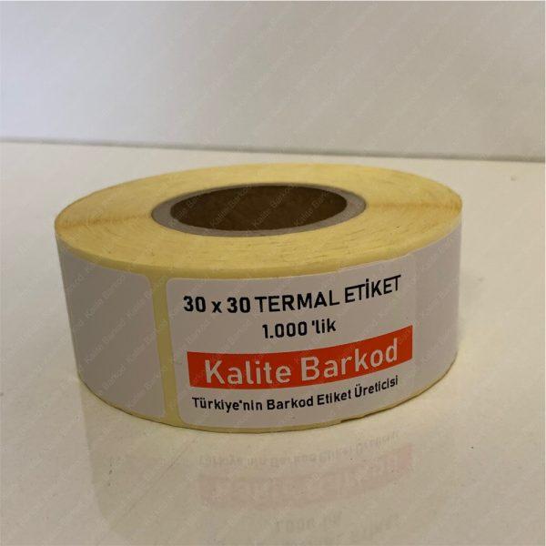 30 x 30 Termal Etiket 30 x 30 termal barkod etiket 600x600