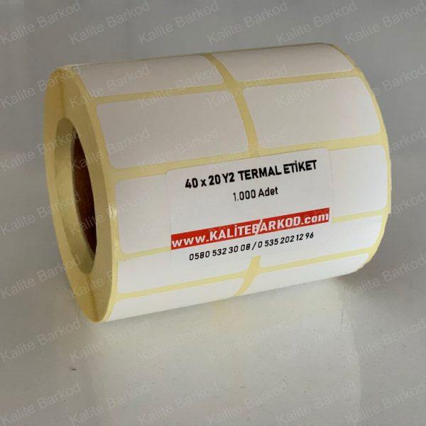 40 x 20 termal etiket yanyana 2'li 40 x 20 yanyana 2'li Termal Etiket 40 x 20 yanyana2li termal barkod etiket 600x600