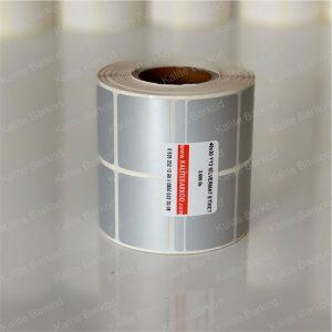 metalize silvermat etiket 40x30 yanyana 2 li