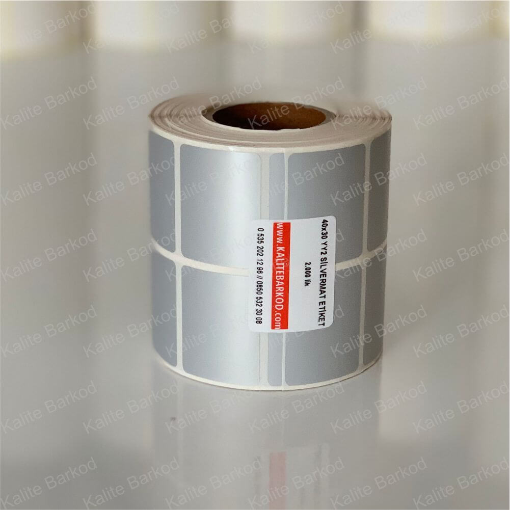 metalize silvermat etiket 40x30 yanyana 2 li termal etiket Home 2 40 x 30 silvermat etiket yanyana2li