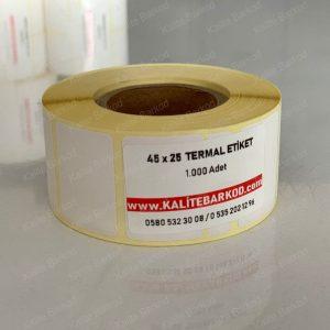 45x25 termal etiket