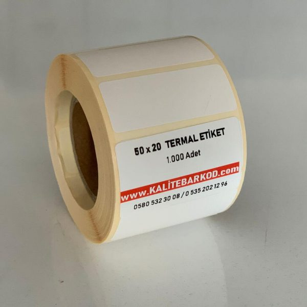 50 x 20 termal etiket 50 x 20 Termal Etiket 50 x 20 termal barkod etiket 600x600