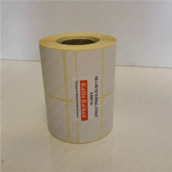 50x25 termal etiket