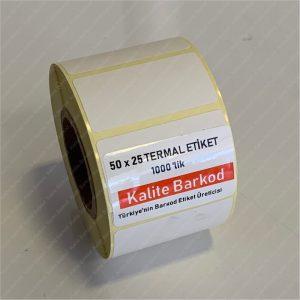 termal etiket Termal Etiket Nedir, Termal Etiket Özellikleri 50 x 25 termal barkod etiket 300x300