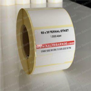 50x30 termal etiket