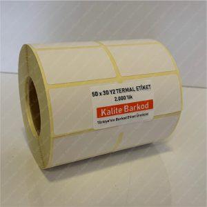 termal etiket Termal Etiket Nedir, Termal Etiket Özellikleri 50 x 35 yanyana2 termal barkod etiket 1 300x300