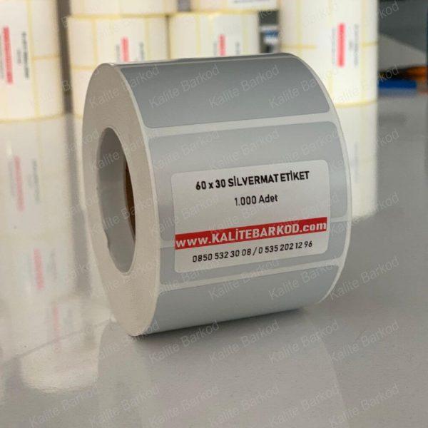 60 x 30 Silvermat Etiket 60 x 30 silvermat etiket 600x600