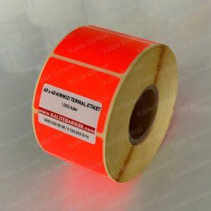 termal etiket Termal Etiket Nedir, Termal Etiket Özellikleri 60 x 40 kirmizi termal etiket 300x300