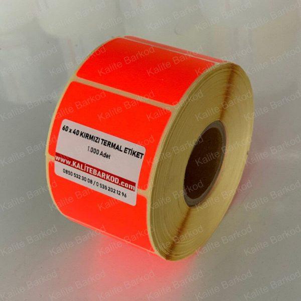 60 x 40 Kırmızı Termal Barkod Etiket 60 x 40 kirmizi termal etiket 600x600