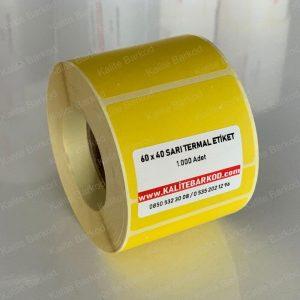 termal etiket Termal Etiket Nedir, Termal Etiket Özellikleri 60 x 40 sari termal etiket 300x300