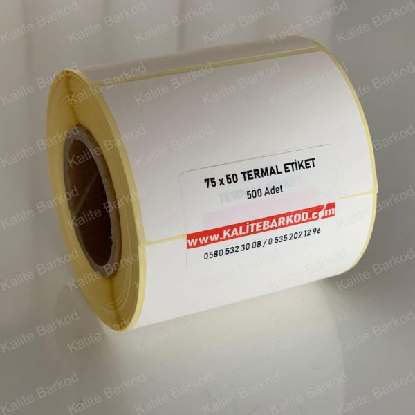 75 x 50 Termal Etiket 75 x 50 termal barkod etiket 600x600